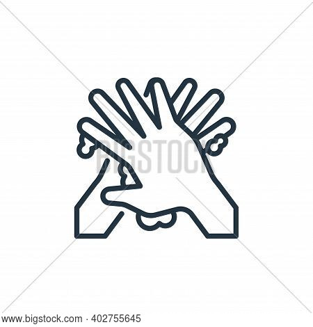 washing hands icon isolated on white background. washing hands icon thin line outline linear washing