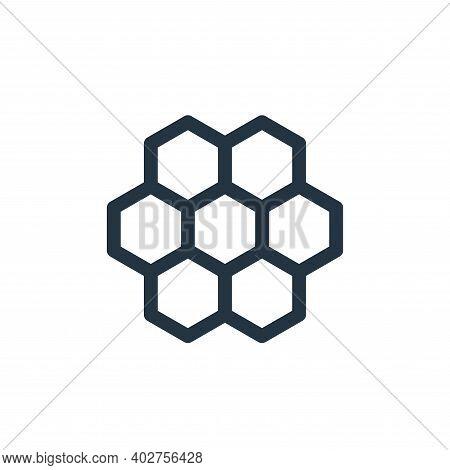 honeycomb icon isolated on white background. honeycomb icon thin line outline linear honeycomb symbo