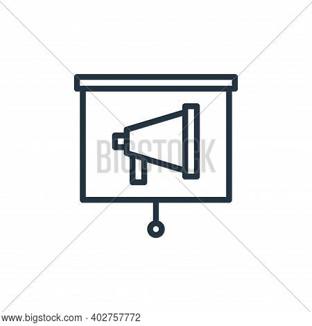 presentation icon isolated on white background. presentation icon thin line outline linear presentat