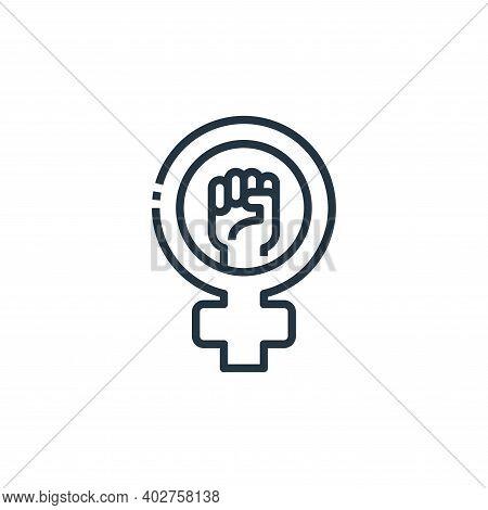 feminism icon isolated on white background. feminism icon thin line outline linear feminism symbol f
