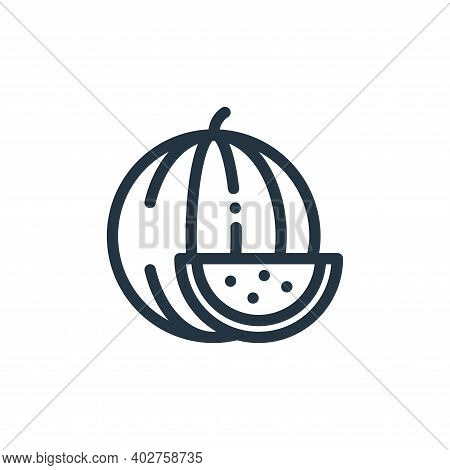 watermelon icon isolated on white background. watermelon icon thin line outline linear watermelon sy