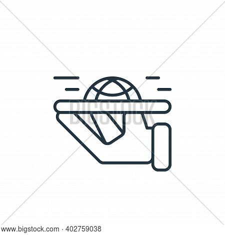 service icon isolated on white background. service icon thin line outline linear service symbol for