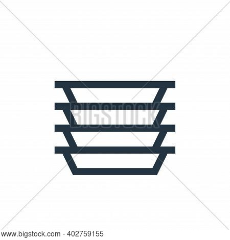 plastic icon isolated on white background. plastic icon thin line outline linear plastic symbol for