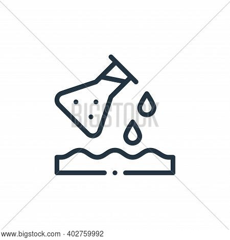 pollution icon isolated on white background. pollution icon thin line outline linear pollution symbo