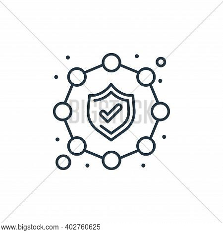 security icon isolated on white background. security icon thin line outline linear security symbol f