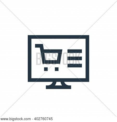 online shopping icon isolated on white background. online shopping icon thin line outline linear onl