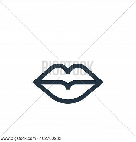 lips icon isolated on white background. lips icon thin line outline linear lips symbol for logo, web