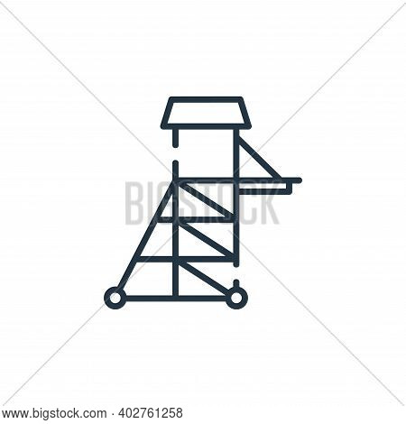 tower icon isolated on white background. tower icon thin line outline linear tower symbol for logo,