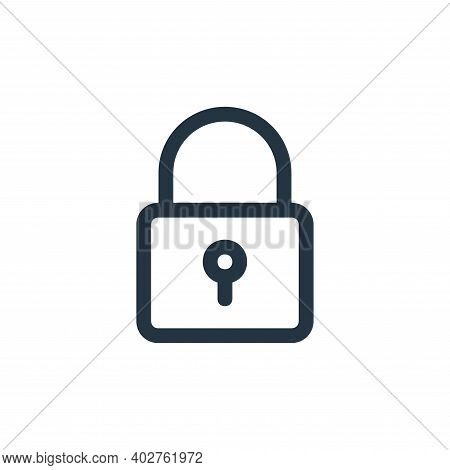 padlock icon isolated on white background. padlock icon thin line outline linear padlock symbol for