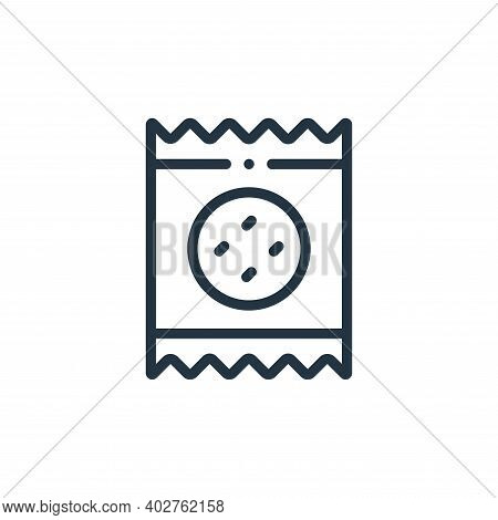 biscuit icon isolated on white background. biscuit icon thin line outline linear biscuit symbol for