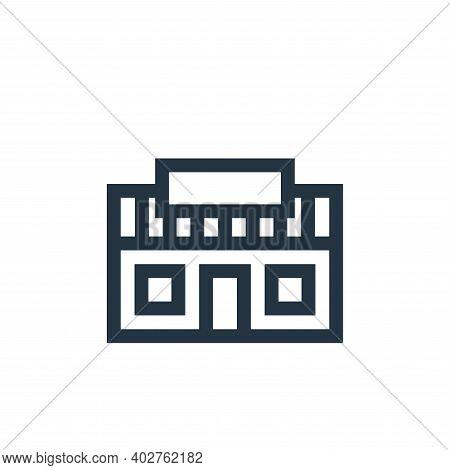 supermarket icon isolated on white background. supermarket icon thin line outline linear supermarket