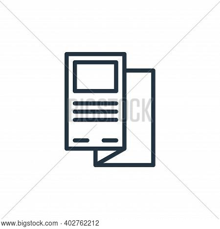 flyer icon isolated on white background. flyer icon thin line outline linear flyer symbol for logo,