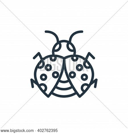 bug icon isolated on white background. bug icon thin line outline linear bug symbol for logo, web, a
