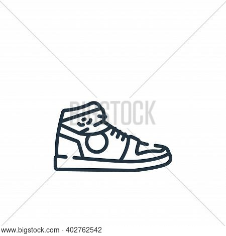 sneakers icon isolated on white background. sneakers icon thin line outline linear sneakers symbol f