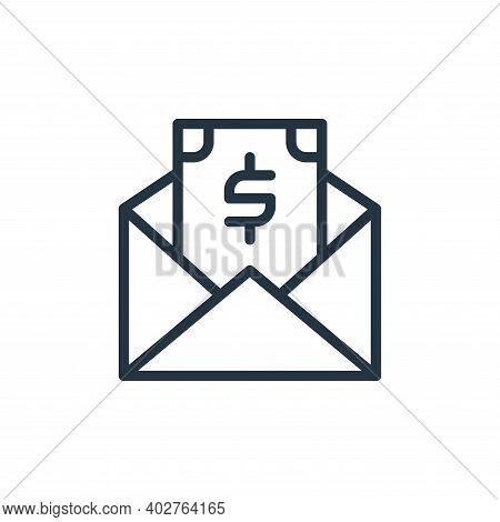 salary icon isolated on white background. salary icon thin line outline linear salary symbol for log