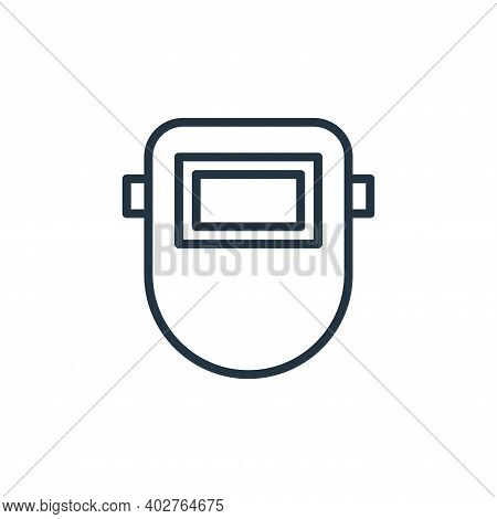welding mask icon isolated on white background. welding mask icon thin line outline linear welding m