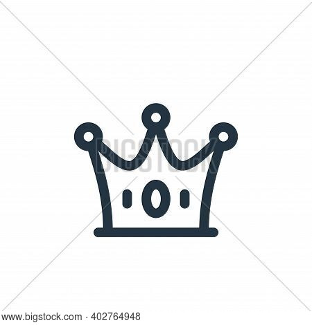 crown icon isolated on white background. crown icon thin line outline linear crown symbol for logo,