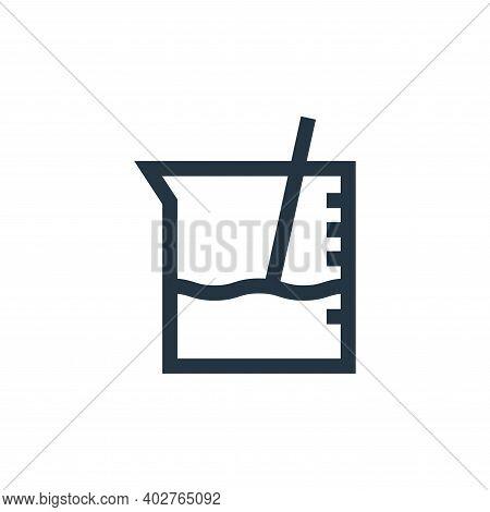 beaker icon isolated on white background. beaker icon thin line outline linear beaker symbol for log
