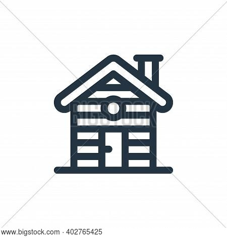 cabin icon isolated on white background. cabin icon thin line outline linear cabin symbol for logo,