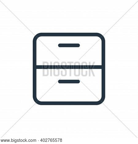 cabinet icon isolated on white background. cabinet icon thin line outline linear cabinet symbol for