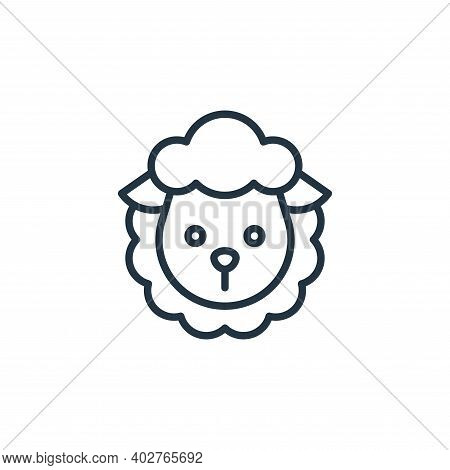 sheep icon isolated on white background. sheep icon thin line outline linear sheep symbol for logo,