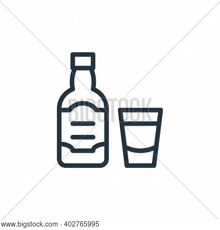 whiskey icon isolated on white background. whiskey icon thin line outline linear whiskey symbol for