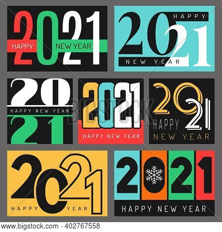 2021 Poster. Graphic Design Of Christmas Promotional Placard 2021 Seasons Logo Recent Vector Templat