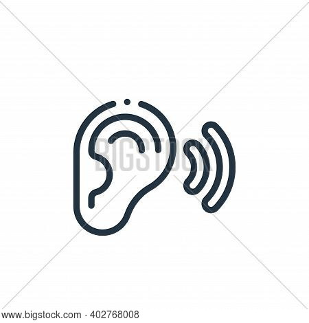 listen icon isolated on white background. listen icon thin line outline linear listen symbol for log