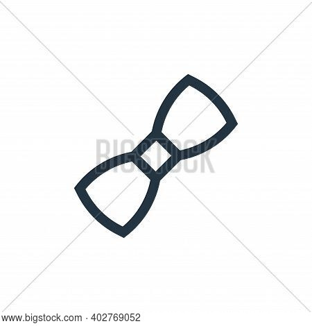 bow tie icon isolated on white background. bow tie icon thin line outline linear bow tie symbol for
