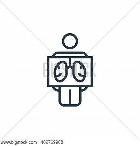 x ray icon isolated on white background. x ray icon thin line outline linear x ray symbol for logo,