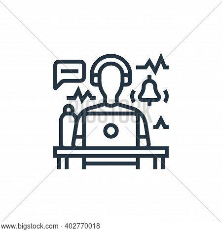 disturbance icon isolated on white background. disturbance icon thin line outline linear disturbance