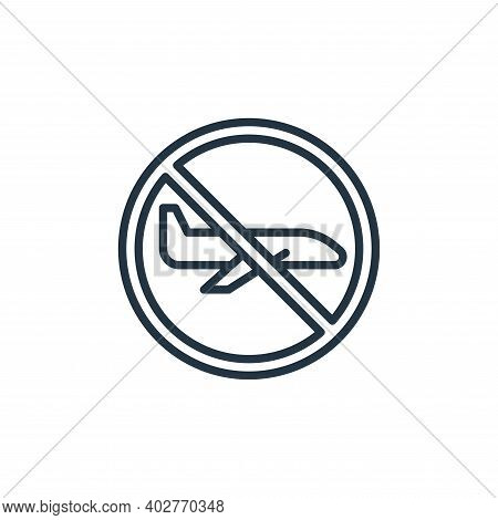 flight icon isolated on white background. flight icon thin line outline linear flight symbol for log