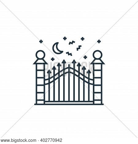 gate icon isolated on white background. gate icon thin line outline linear gate symbol for logo, web