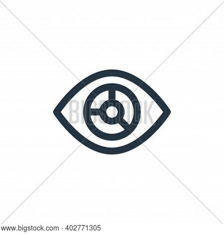 visualization icon isolated on white background. visualization icon thin line outline linear visuali