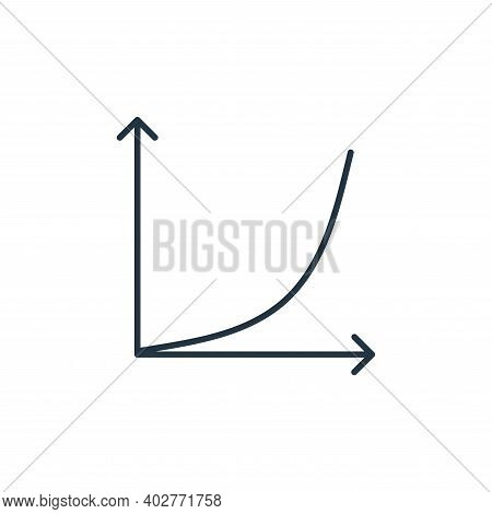 growth graph icon isolated on white background. growth graph icon thin line outline linear growth gr