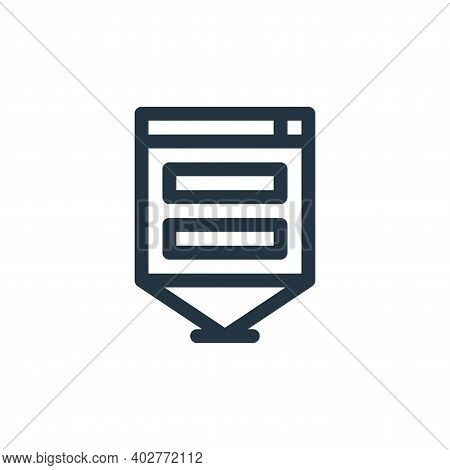d hologram icon isolated on white background. d hologram icon thin line outline linear d hologram sy