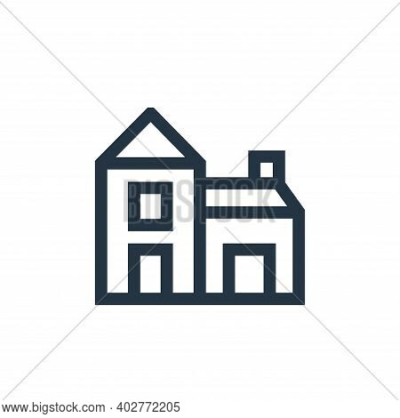 house icon isolated on white background. house icon thin line outline linear house symbol for logo,