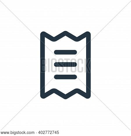 bill icon isolated on white background. bill icon thin line outline linear bill symbol for logo, web