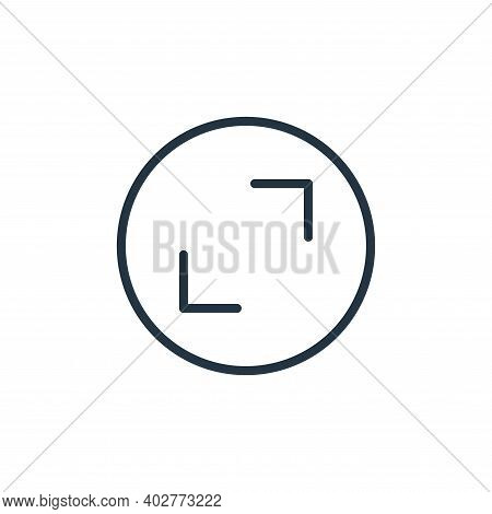 full screen icon isolated on white background. full screen icon thin line outline linear full screen