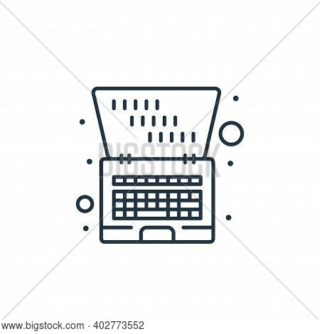 laptop icon isolated on white background. laptop icon thin line outline linear laptop symbol for log