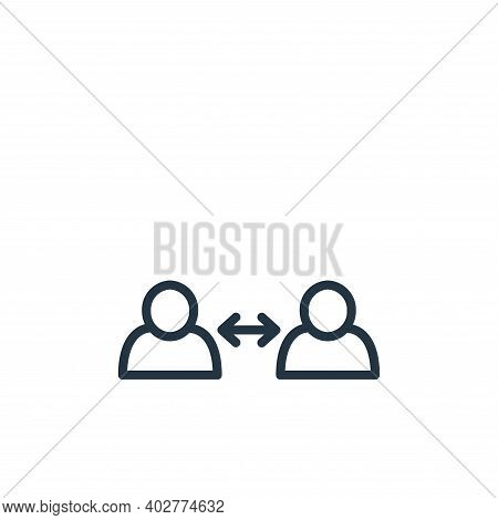 keep distance icon isolated on white background. keep distance icon thin line outline linear keep di