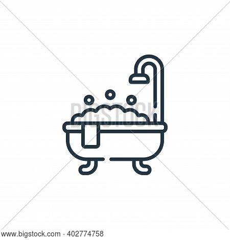 bath tub icon isolated on white background. bath tub icon thin line outline linear bath tub symbol f