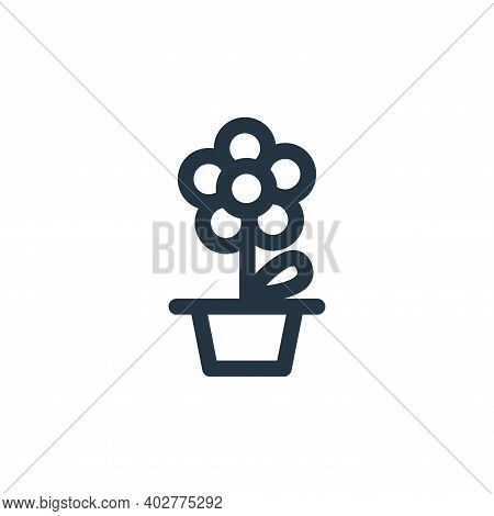 daisy icon isolated on white background. daisy icon thin line outline linear daisy symbol for logo,