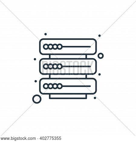 database icon isolated on white background. database icon thin line outline linear database symbol f
