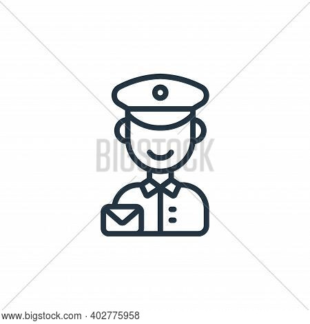 Postman Vector Icon Isolated On White Background.