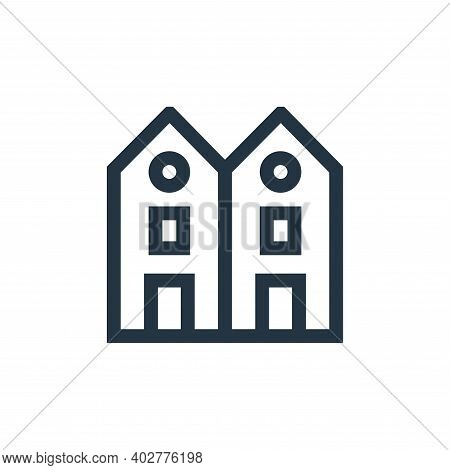 Chalet Vector Icon Isolated On White Background.