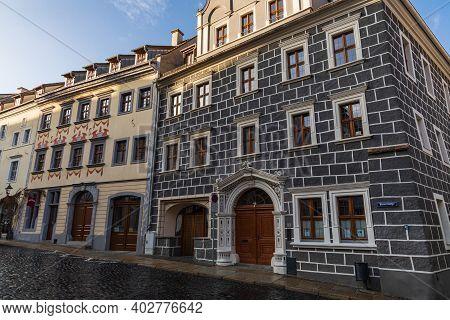 Zgorzelec Gorlitz January 27 2020 Facade Of Old Renovated Tenement Houses