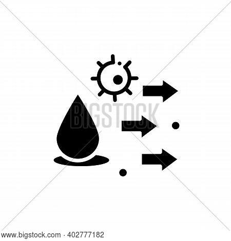 Droplet Spread Glyph Icon. Disease Spreading Concept. Covid19, Virus Disease, Influenza Or Flu Trans