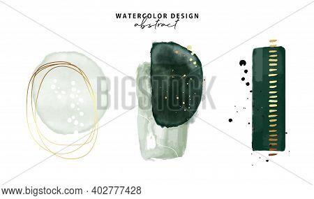 Marble Watercolor Emerald Green Parint, Emerald Minimalist Background. Gold Foil Texture Art. Resins