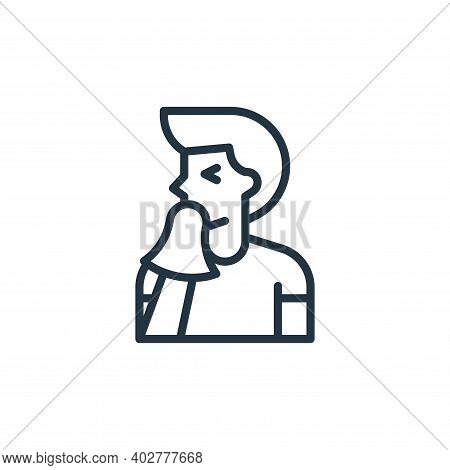 Sneeze Vector Icon Isolated On White Background.